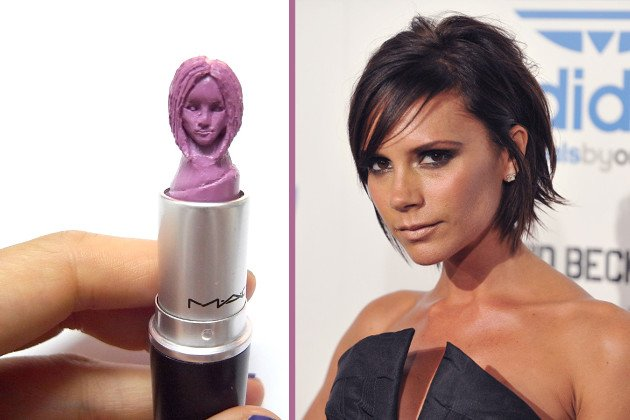 Victoria Beckham in blaustichigem Rosa mit berühmten Pob. (Bilder: May Sum, Getty Images)