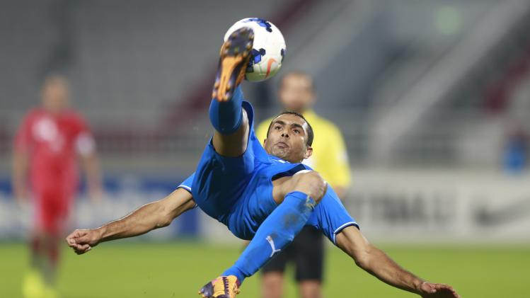 Naseef of Bahrain's Al-Hidd controls the ball during their AFC Champions League match against Qatar's Lekhwiya in Doha