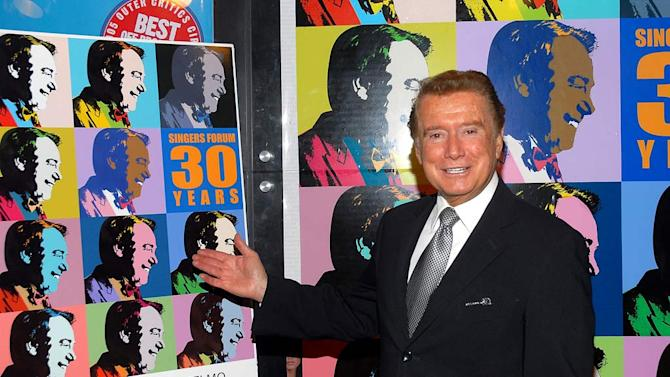 Regis Philbin receives the 2008 Andy Anselmo Lifetime Achievement Award at the New World Stages on April 28, 2008 in New York City.