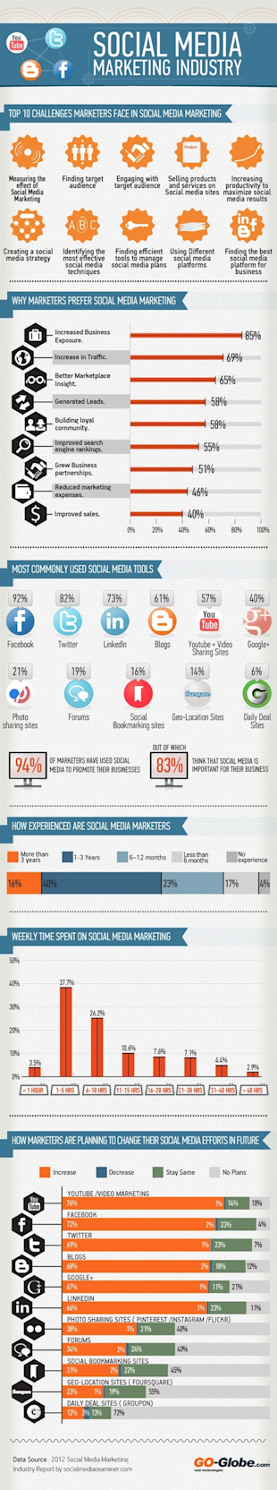 10 Infographics To Get You Excited About B2B Social Media image 10 Social media marketing industry resized 600