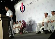 Dr Koh Poh Koon speaks at the People's Action Party rally on 18 January 2013.