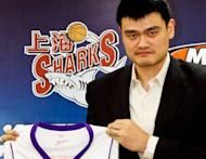 File photo shows Yao Ming, Chinese basketball star and owner of Shanghai Sharks, at a press conference in Shanghai in 2009. The Shanghai Sharks has called off friendly games in the Philippines amid a tense territorial dispute between the two countries, a sports official organising the events said Thursday