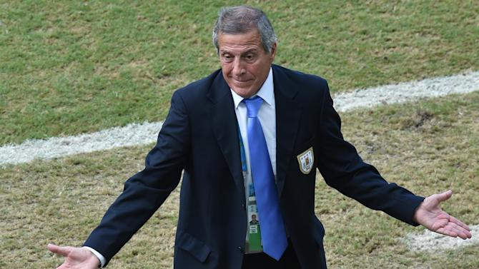 World Cup - Colombia, not Suarez saga, ended Uruguay hopes - Tabarez