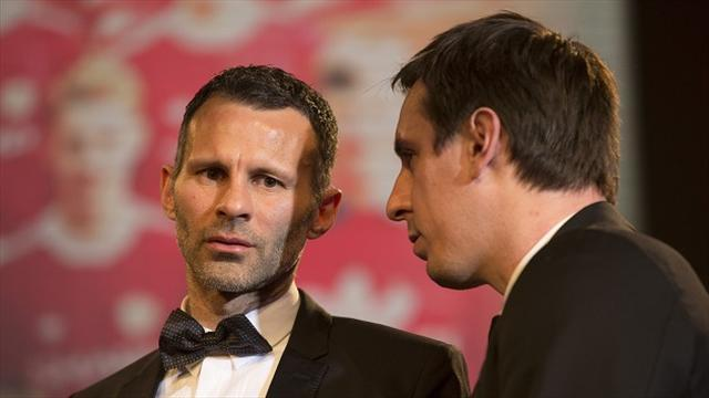 Football - Neville and Giggs in Salford talks