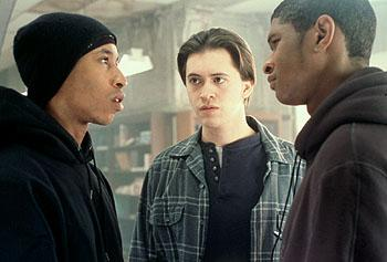 Fredro Starr , Clifton Collins Jr. and Usher Raymond in Light It Up