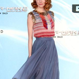 Emma Stone's Chanel style overshadows Spider Man 2