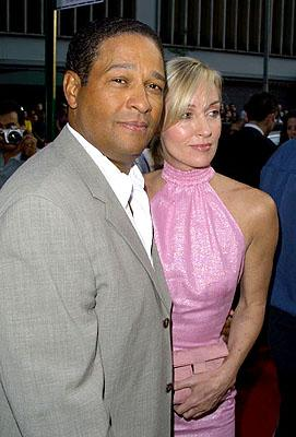 Premiere: Bryant Gumbel and wife at the New York premiere of 20th Century Fox's Planet Of The Apes - 7/23/2001