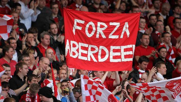 More than 14,000 fans were in attendance at Pittodrie after Aberdeen's Sell Out Saturday campaign
