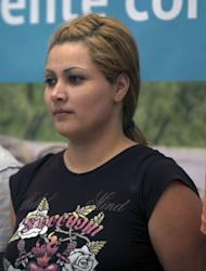 """Carmen del Consuelo Saenz Marquez, aka """"Claudia"""", alleged financial operator of the Zetas drug cartel is pictured in 2011 in Mexico City. The high mortality rate in Mexico's drug war has seen women progress quickly in the shadowy underworld of the cartels and they are increasingly taking on key management roles, a new book says"""