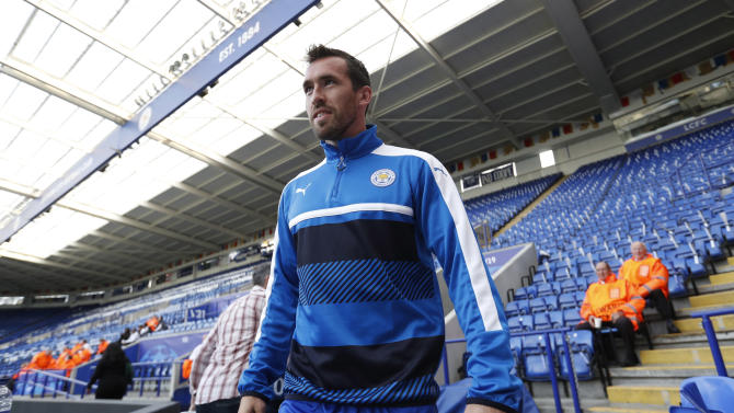 Leicester City's Christian Fuchs before the match