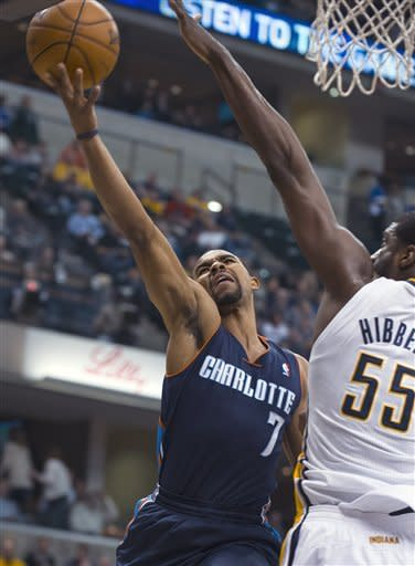 Hill scores 19 as Pacers beat Bobcats 96-88