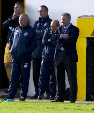 Ally McCoist, right, was less than impressed with Rangers' performance against Forres