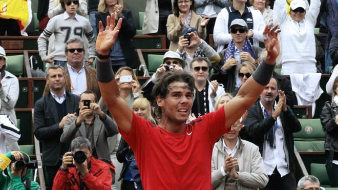 Spain's Rafael Nadal Celebrates  AFP/Getty Images