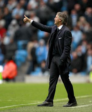 Roberto Mancini clashed with Paul Lambert as Manchester City lost to Aston Villa
