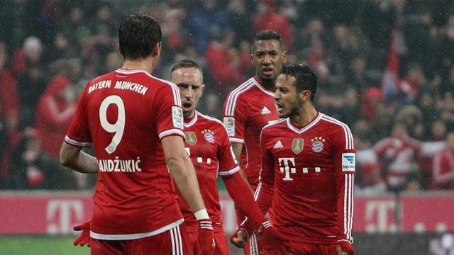 Bundesliga - Shaqiri strikes twice as Bayern go 16 points clear