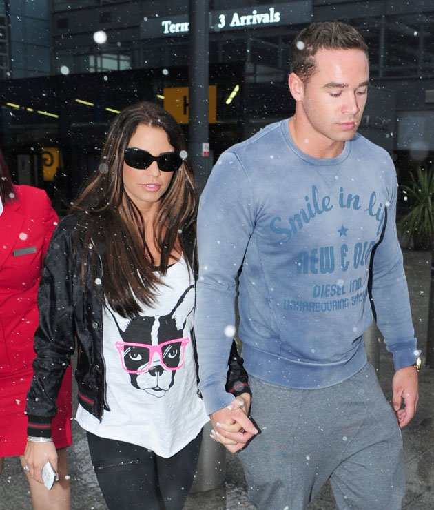 Katie Price and her new husband, Kieran Hayler.