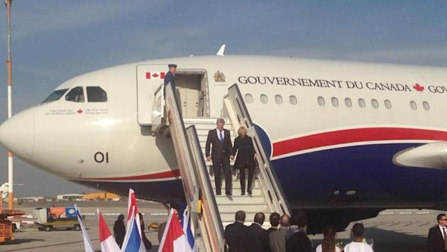 Prime Minister Stephen Harper and wife Laureen arrive in Israel for the start of a six-day Middle East tour.