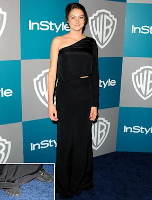 Shailene Woodley Wears Barefoot Running Shoes to Golden Globes Bash