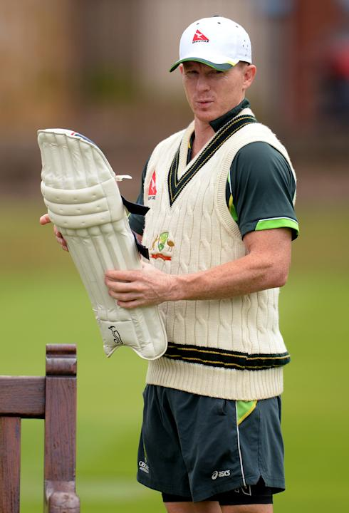 Australia's Chris Rogers during a training session