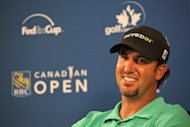 Scott Piercy of the USA, seen here during an interview after completing the first round of the RBC Canadian Open at Hamilton Golf and Country Club, on July 26, in Ancaster, Ontario. Piercy recorded two eagles en route to a course record and a one-shot lead over England's Greg Owen after the opening round