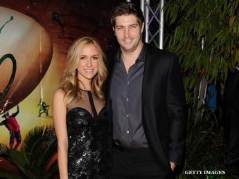 Jay Cutler and and his fiancee Kristin Cavallari (Getty Images)