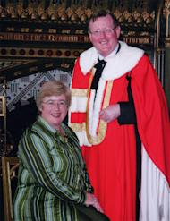 Lord David Trimble, seen in this photograph with his wife Daphne, shows his support for the Mindanao peace process in a five-day visit to the Philippines. (Photo from the official website of Lord David Trimble)