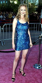 Premiere: Heather Graham (Felicity Shagwell) looking nothing if not shagadelic at the Los Angeles premiere for Austin Powers: The Spy Who Shagged Me