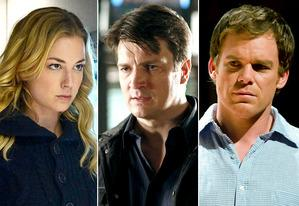 Emily VanCamp, Nathan Fillion, Michael C. Hall | Photo Credits: Eric McCandless/ABC; Ron Tom/ABC; Randy Tepper/Showtime