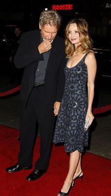 Harrison Ford and Calista Flockhart at the LA premiere of Warner Bros. Pictures' Firewall