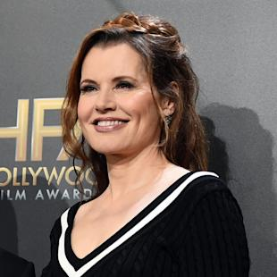 """FILE - In this Nov. 14, 2014 file photo, Geena Davis poses in the press room at the Hollywood Film Awards at the Palladium in Los Angeles. Davis is launching a film festival focused on women and diversity in Bentonville, Ark. About 75 films will be screened over the four-day festival, which will also include panel discussions and a celebratory """"A League of Their Own"""" baseball game, featuring appearances by Rosie O'Donnell and two original members of the All American Girls Professional Baseball League. (Photo by Jordan Strauss/Invision/AP, File)"""