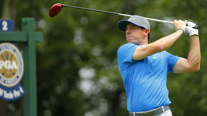 US PGA Championship - McIlroy stays one ahead after wild day at Valhalla
