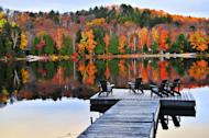 This magnificent view shows the multihued beauty of the located in the northeastern part of New York. In this region,