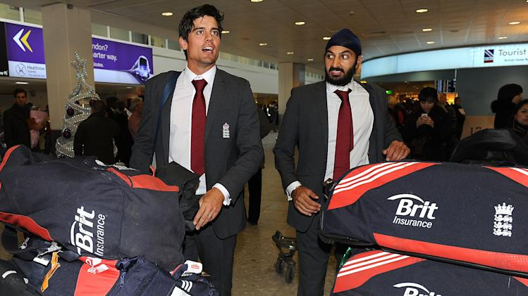 England Cricket Team Captain Alastair Cook Arrives Home At Heathrow Airport After England's Series Win In India
