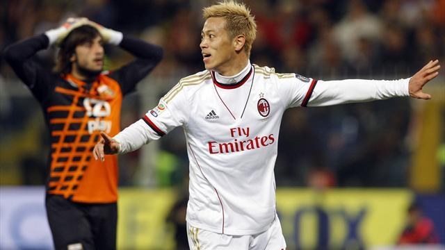 Serie A - Honda strikes in Milan away win