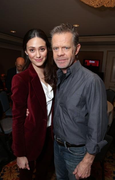 Emmy Rossum and William H. Macy at Showtime's 2013 Winter TCA held at Langham Huntington Hotel and Spa, Pasadena, Calif., on January 12, 2013 -- Getty Images
