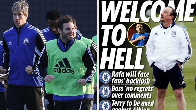 Premier League - Paper Round: Chelsea players 'poke fun at Benitez '