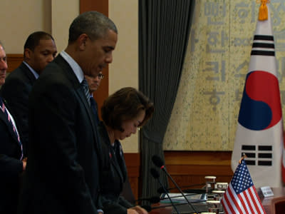 Obama Honors South Korean Ferry Victims