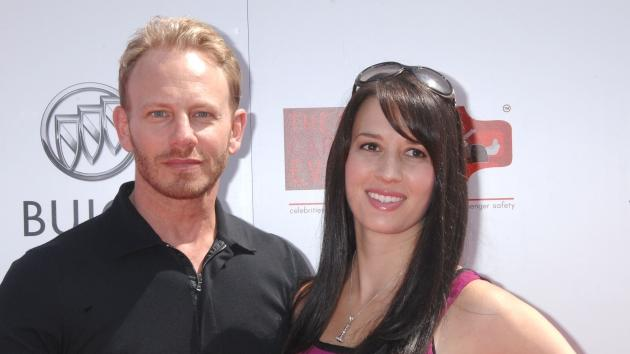 Ian Ziering and wife Erin attend the Red CARpet Event at the Riviera Country Club in Pacific Palisades, Calif., on September 10, 2011 -- Getty Premium