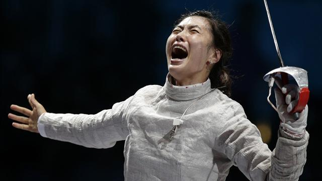 Zagunis collapses, Jiyeon takes gold in Olympic sabre