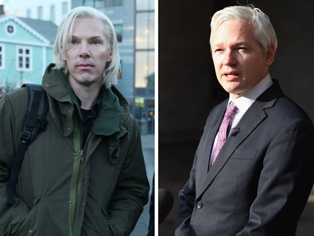 Julian Assange and Benedict Cumberbatch