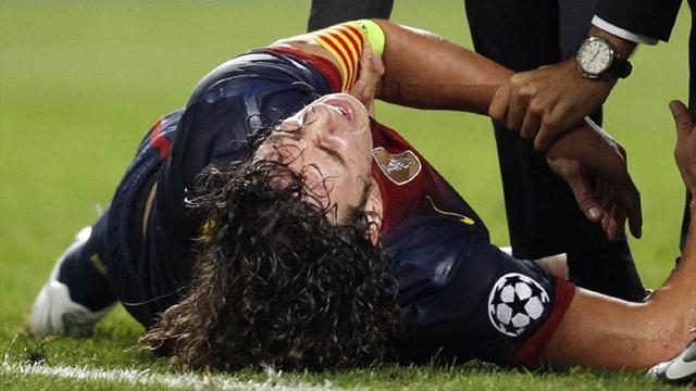 Liga - Injury-plagued Barca hero Puyol considering his future