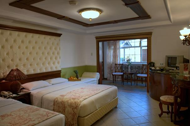 One of the deluxe rooms in Boracay Garden resort