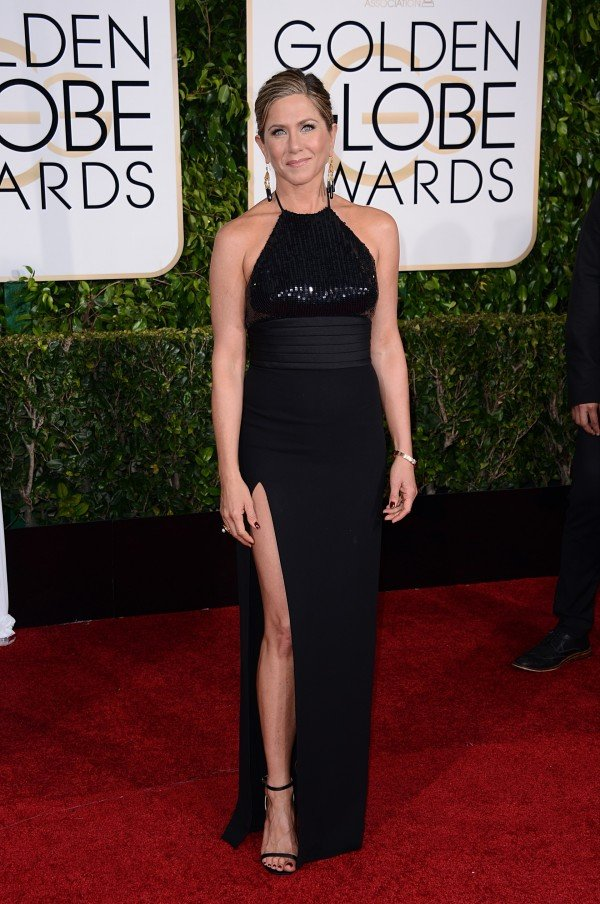 Jennifer Aniston arriving at the 72nd annual Golden Globe Awards