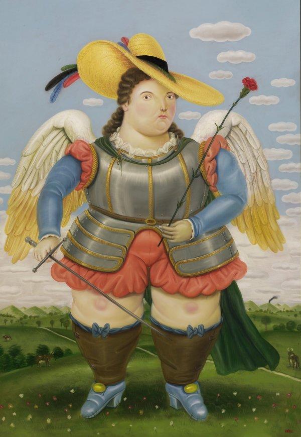 El leo arc ngel san miguel del pintor colombiano - Fotos de botero ...