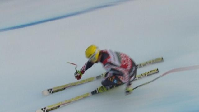 Kostelic trails after first run