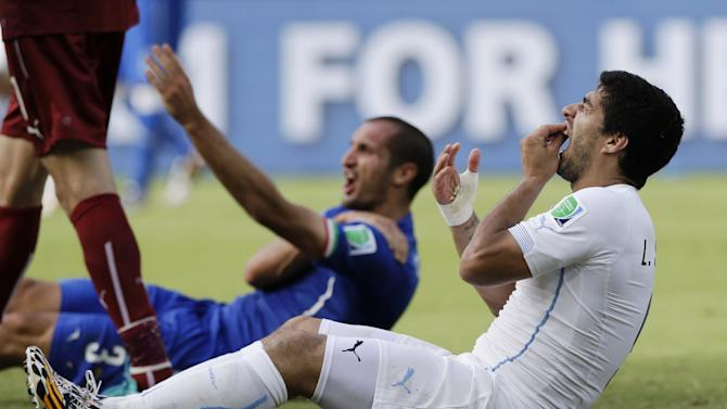 Giorgio Chiellini says he has 'no problem' with Luis Suarez