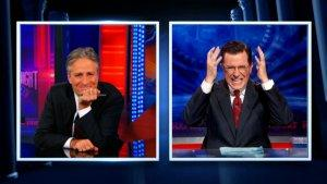 Jon Stewart Announces Obama's Win; Stephen Colbert Mourns It (Videos)