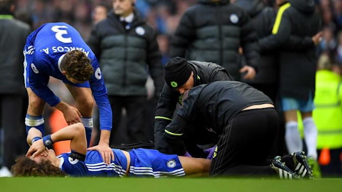 Scary Aguero tackle hurt Luiz, says Conte