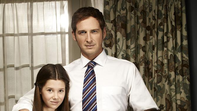 """Natasha Calis as Claire McDeere, Josh Lucas as Mitch McDeere, and Molly Parker as Abby McDeere in """"The Firm."""""""