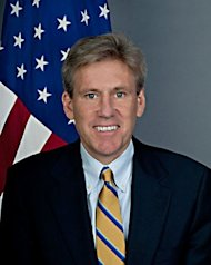 This US State Department official photo obtained shows US ambassador to Libya J. Christopher Stevens. The United States vowed to stand by Libya despite the killing of the US ambassador and three colleagues by Islamist militants on the anniversary of the September 11 attacks